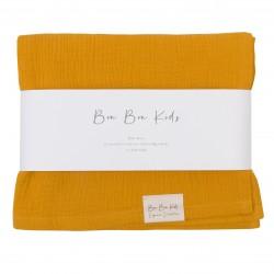 Bon Bon Kids - Otulacz muślinowy Mustard | Esy Floresy