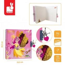 Janod - Sekretny pamiętnik na kłódkę Wróżki Pokaz mody 7+ | Esy Floresy