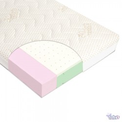Materac do łóżeczka VARIO LATEX 120cm x 60cm z pokrowcem Amicor | Esy Floresy