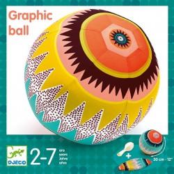 Djeco - Piłka materiałowa GRAFIKA z balonami 30 cm   Esy Floresy