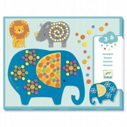 Djeco - Mozaiki dla maluchów DŻUNGLA   Esy Floresy