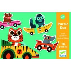 Djeco - Puzzle duo WYŚCIGÓWKI   Esy Floresy