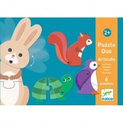 Djeco - Puzzle ruchome ZWIERZĘTA   Esy Floresy