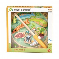 Tender Leaf Toys - Drewniana gra zręcznościowa Łowienie w stawie | Esy Floresy