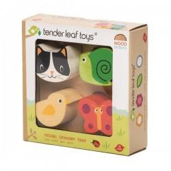 Tender Leaf Toys - Drewniana zabawka sensoryczna - Zwierzęta - kształty i faktury | Esy Floresy