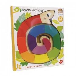 Tender Leaf Toys - Drewniana zabawka - Kolorowy wąż, kolory i kształty | Esy Floresy