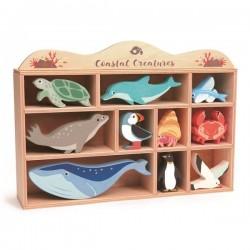 Tender Leaf Toys - Drewniane figurki do zabawy - zwierzęta morskie | Esy Floresy