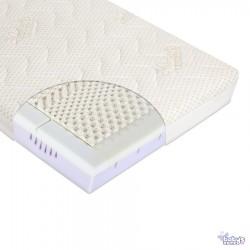 Materac do łóżeczka MODIO CLIMALATEX 120cm x 60cm z pokrowcem Cotton-BCI + Klin | Esy Floresy
