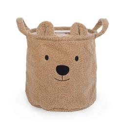 Childhome - Pluszowy pojemnik na zabawki 30 x 30 x 30 cm Teddy Bear | Esy Floresy