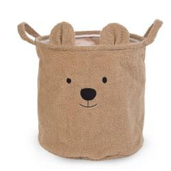 Childhome - Pluszowy pojemnik na zabawki 40 x 40 x 40 cm Teddy Bear | Esy Floresy