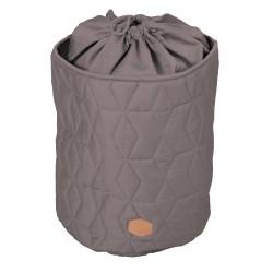 Filibabba - Zamykany pojemnik materiałowy na zabawki Pikowany Dark Grey | Esy Floresy