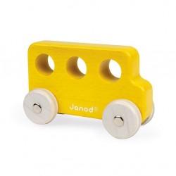 Janod - Drewniany pojazd Sweet Cocoon, Autobus żółty | Esy Floresy