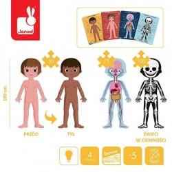 Janod - Puzzle edukacyjne gigantyczne Ciało człowieka 50, 75 i 100 elementów 5 + | Esy Floresy
