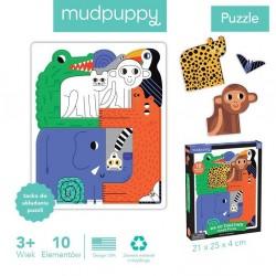 Mudpuppy - Puzzle układanka Wszyscy razem Dżungla 10 elementów 3+ | Esy Floresy
