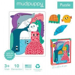 Mudpuppy - Puzzle układanka Wszyscy razem Ocean 10 elementów 3+   Esy Floresy
