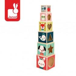 Janod - Piramida wieża drewniana Baby Forest | Esy Floresy