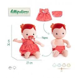 LILLIPUTIENS - Duża lalka dzidziuś Rose 36 cm 2 lata+ | Esy Floresy