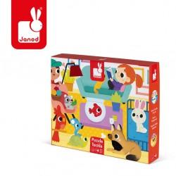 Janod - Puzzle sensoryczne 20 elementów Zwierzęta domowe | Esy Floresy