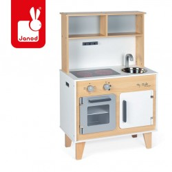 Janod - Duża kuchnia drewniana z naklejkami do indywidualnego ozdabiania My Style | Esy Floresy