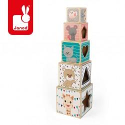 Janod - Piramida wieża drewniana Żyrafka Sophie | Esy Floresy