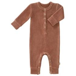 Fresk - Rampers welurowy 6-12 miesięcy Tawny brown   Esy Floresy