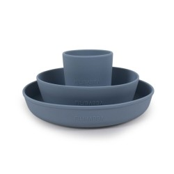 Filibabba - Silikonowy zestaw obiadowy Powder blue | Esy Floresy