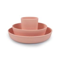 Filibabba - Silikonowy zestaw obiadowy Peach | Esy Floresy