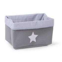 Childhome - Pudełko płócienne 32 x 20 x 20 cm Grey Stripes | Esy Floresy