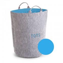 Childhome - Filcowa torba na zabawki szary/turkus z uchwytami   Esy Floresy