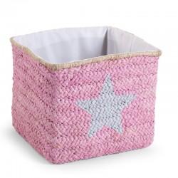 Childhome - Pudełko plecione 30x33x33 star&cloud róż | Esy Floresy