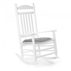 Childhome - Krzesełko bujane LUX lakierowane białe + poduszka | Esy Floresy