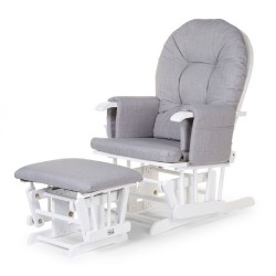 Childhome - Fotel pływający zaokrąglony z podnóżkiem White/Grey   Esy Floresy