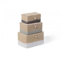 Childhome - Zamykane koszyki papierowe zestaw 3 szt. | Esy Floresy