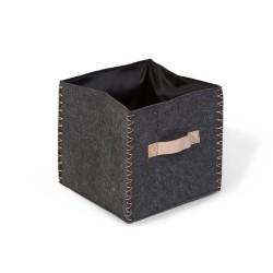 Childhome - Składane pudełko filcowe 40 x 40 x 60 cm Anthracite/Gold | Esy Floresy