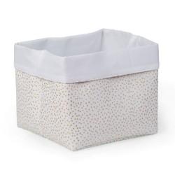 Childhome - Pudełko materiałowe 32x32x29 złote kropki | Esy Floresy