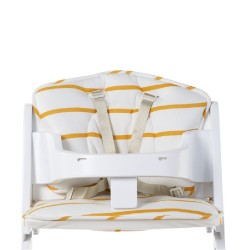 Childhome - Ochraniacz do krzesełka Lambda Jersey Ochre Stripes | Esy Floresy