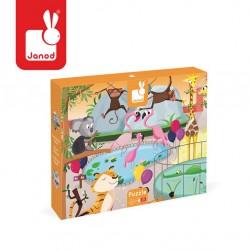 Janod - Puzzle sensoryczne 20 elementów Wycieczka do zoo | Esy Floresy