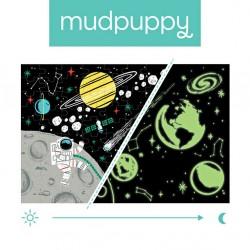 Mudpuppy - Puzzle świecące w ciemności Kosmos 100 elementów 5+   Esy Floresy