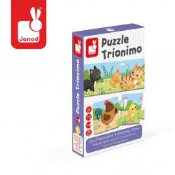 Janod - Trzyczęściowe puzzle Zwierzęta i ich dzieci 30 elementów | Esy Floresy