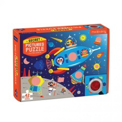 Mudpuppy - Puzzle z ukrytymi obrazkami Kosmos 42 elementy 3+  | Esy Floresy