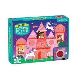 Mudpuppy - Puzzle z ukrytymi obrazkami Zamek jednorożca 42 elementy 3+  | Esy Floresy