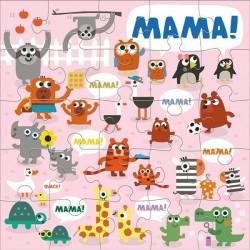 Mudpuppy - Puzzle podłogowe Jumbo Mama 25 elementów 2+  | Esy Floresy