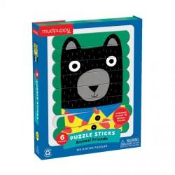 Mudpuppy - Puzzle Patyczki Zwierzęcy przyjaciele 24 elementy 3+ | Esy Floresy