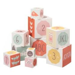 Fresk - Piramida edukacyjna Alfabet i Cyfry Orange | Esy Floresy