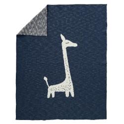 Fresk - Tkany kocyk z bawełny organicznej 100 x 150 cm Żyrafa | Esy Floresy