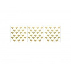 Dekornik - Naklejka Serduszka Złote Basic | Esy Floresy