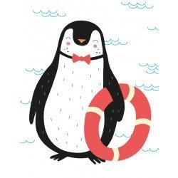 BuBu Studio Plakat - Pingwin Koło Ratunkowe | Esy Floresy