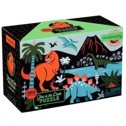 Mudpuppy - Puzzle świecące w ciemności Dinozaury 100 elementów 5+ | Esy Floresy