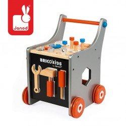 Janod - Wózek warsztat magnetyczny z narzędziami Brico Kids | Esy Floresy