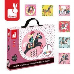 Janod - Zestaw artystyczny Magiczny brokat Świat koni | Esy Floresy